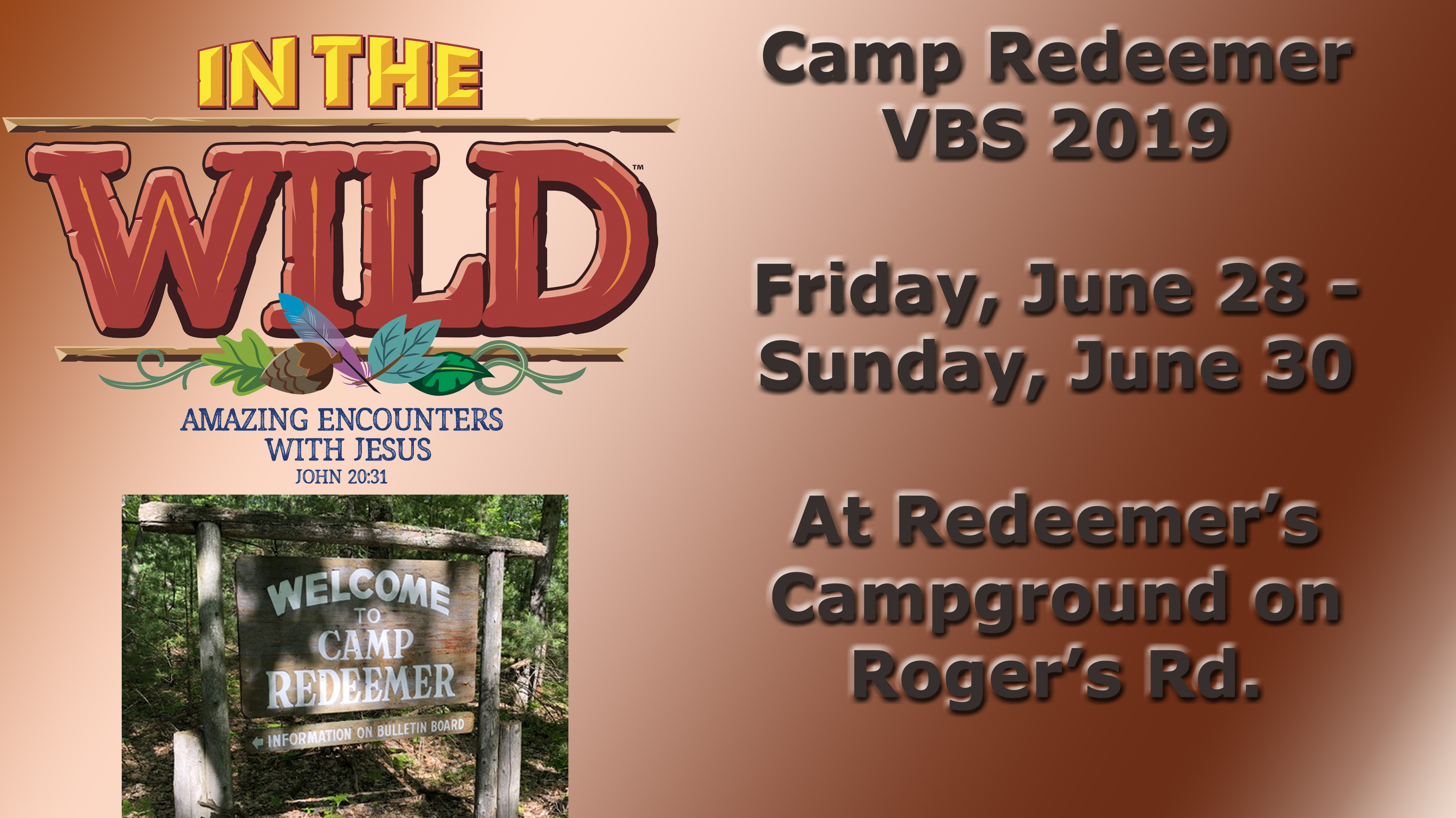 Camp Redeemer VBS